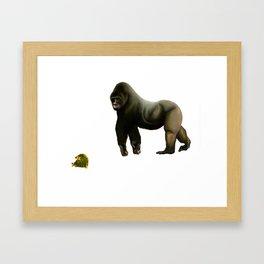 Gorilla & Turtles Framed Art Print