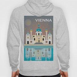 Vienna, Austria - Skyline Illustration by Loose Petals Hoody