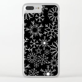 Invert snowflake pattern Clear iPhone Case