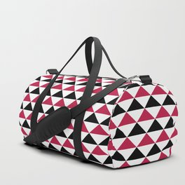 A simple geometric pattern . Triangles . Duffle Bag