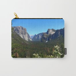 Bridal Veil Falls From Tunnel View Point - Yosemite Valley Carry-All Pouch