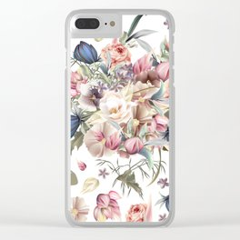 Spring mood illustration with roses Clear iPhone Case
