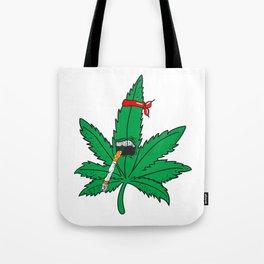 Kung Fu Marijuana Tote Bag