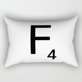 Letter F - Custom Scrabble Letter Tile Art - Scrabble F Rectangular Pillow