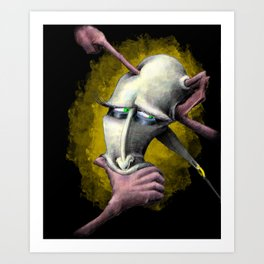 Poked And Pulled Art Print