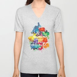 And In That Moment I Swear We Were Infinite - Perks of Being a Wallflower - Paint Splatter Poster Unisex V-Neck