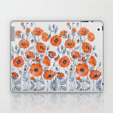 Poppies botanical art Laptop & iPad Skin