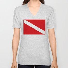Diving flag Unisex V-Neck