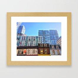 le contraste. Framed Art Print