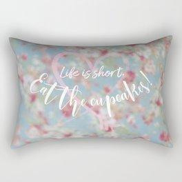 Eat the Cupcakes! Rectangular Pillow