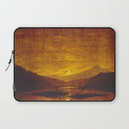 Caspar David Friedrich Mountainous River Landscape Laptop Sleeve