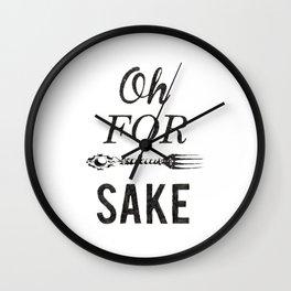 Oh For Fork Sake! Wall Clock