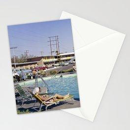 1958 Empey's Desert Villa pool in Las Vegas, Nevada. Retro Motel Stationery Cards