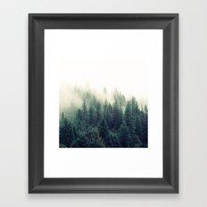 Foggy Winter Forest Framed Art Print