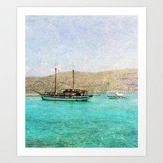 At Sea 1 Vertical Art Print