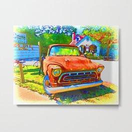 Antique tow truck Metal Print