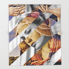 """Botticelli's """"Madonna of the Magnificat"""" & Grace Kelly Throw Blanket"""