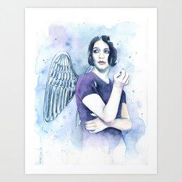 Smoking Angel Art Print