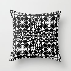 Black and White Square 2 Throw Pillow