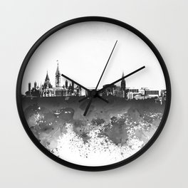 Design 106 Ottawa Skyline B/W Wall Clock