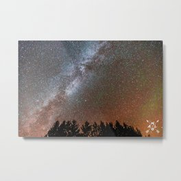 Milky Way over the Michigan UP Metal Print