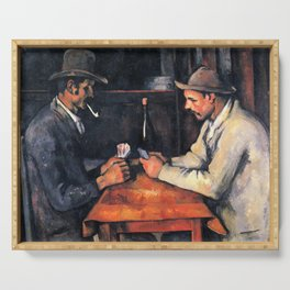 Paul Cézanne - The Card Players Serving Tray
