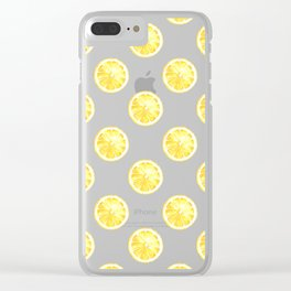 Lemon Circles Clear iPhone Case