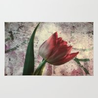 asia Area & Throw Rugs featuring asia tulip by lucyliu
