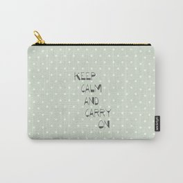 Keep Calm and Carry on ~ polka dot ~ poster ~ typography ~ illistration Carry-All Pouch