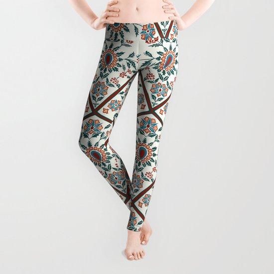 Geometric Deco Floral Leggings