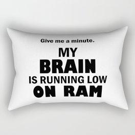 Brain low on RAM Rectangular Pillow