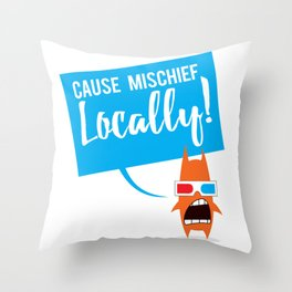 Local Mischief Throw Pillow