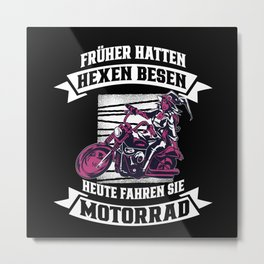 Witches Used To Have Brooms On Motorcycles Metal Print