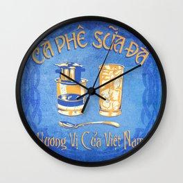 Vietnamese Coffee Ad Wall Clock