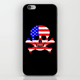 Stars And Stripes Skull and Crossbones iPhone Skin