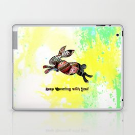 Happy Easter Rabbit - Keep Runing with You Laptop & iPad Skin