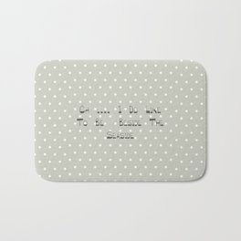 Oh .... i do like to be beside the seaside ~ polka dot ~ poster ~ typography ~ illistration Bath Mat