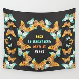 live your life beautifully Wall Tapestry