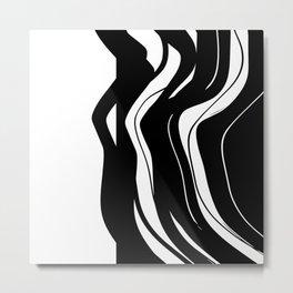 Organic No.5 Black & White #design #society6 #artprints Metal Print