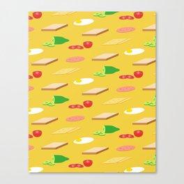 Breakfast Pattern Canvas Print