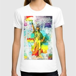 Statue of Liberty Grunge T-shirt