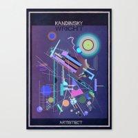kandinsky Canvas Prints featuring kandinsky+wright by federico babina