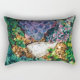 Garden with Succulent (Color) Rectangular Pillow