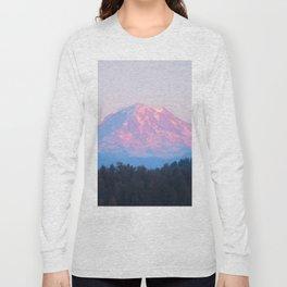 Mount Rainer Alpenglow Long Sleeve T-shirt
