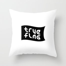 TRUE FLAG ambigram Throw Pillow
