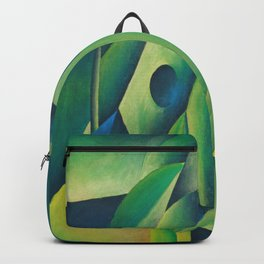Cubist Abstract Of Village Woman Wearing A Headscarf Backpack