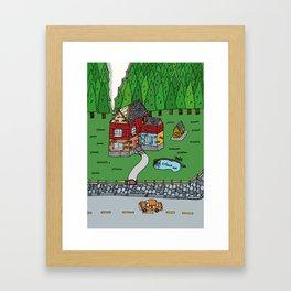 Wooden House Framed Art Print