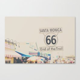the end of route 66 ... Canvas Print