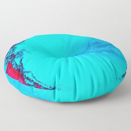 Blue and Magenta Paint (Color) Floor Pillow