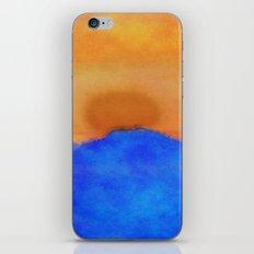 Blue landscape at sunset iPhone & iPod Skin